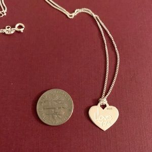 Beautiful Sterling silver I Love You Necklace